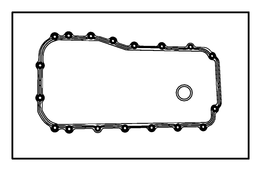 2007 Jeep Wrangler UNLIMITED X 3.8L V6 A/T 4X4 Gasket