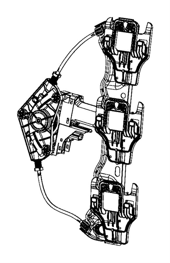 Jeep Grand Cherokee Motor. Window regulator. Rear door