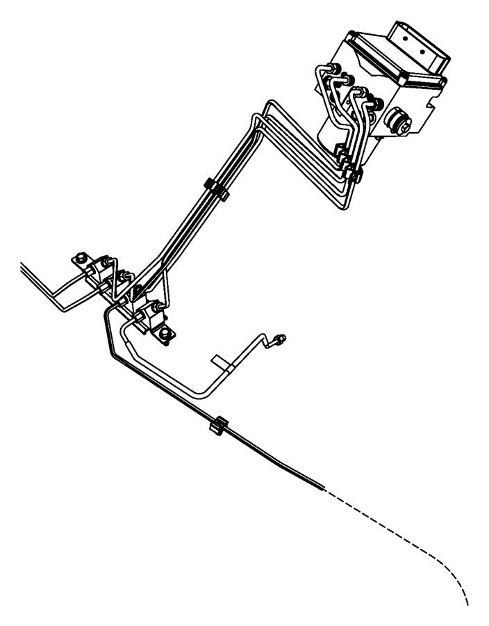RAM 1500 Junction block. Brake tube. Front. [anti-lock 4