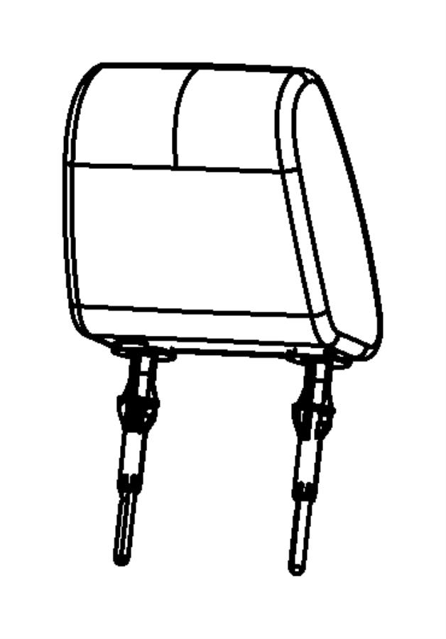 Chrysler Town & Country Sleeve. Headrest. Left, non