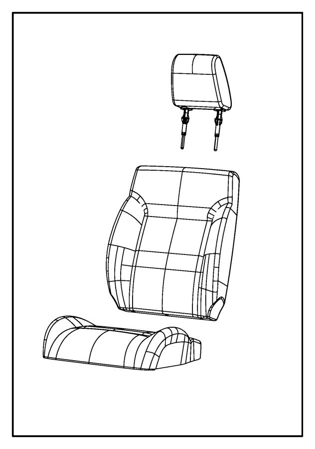 Dodge Nitro Headrest. Front. Trim: [cloth low-back bucket
