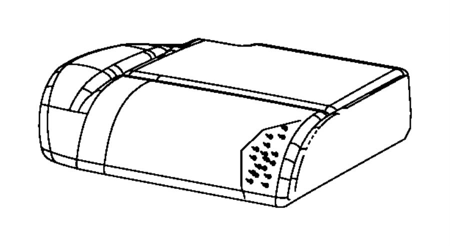 Jeep Liberty Cover. Rear seat cushion. Right. Trim: [cloth
