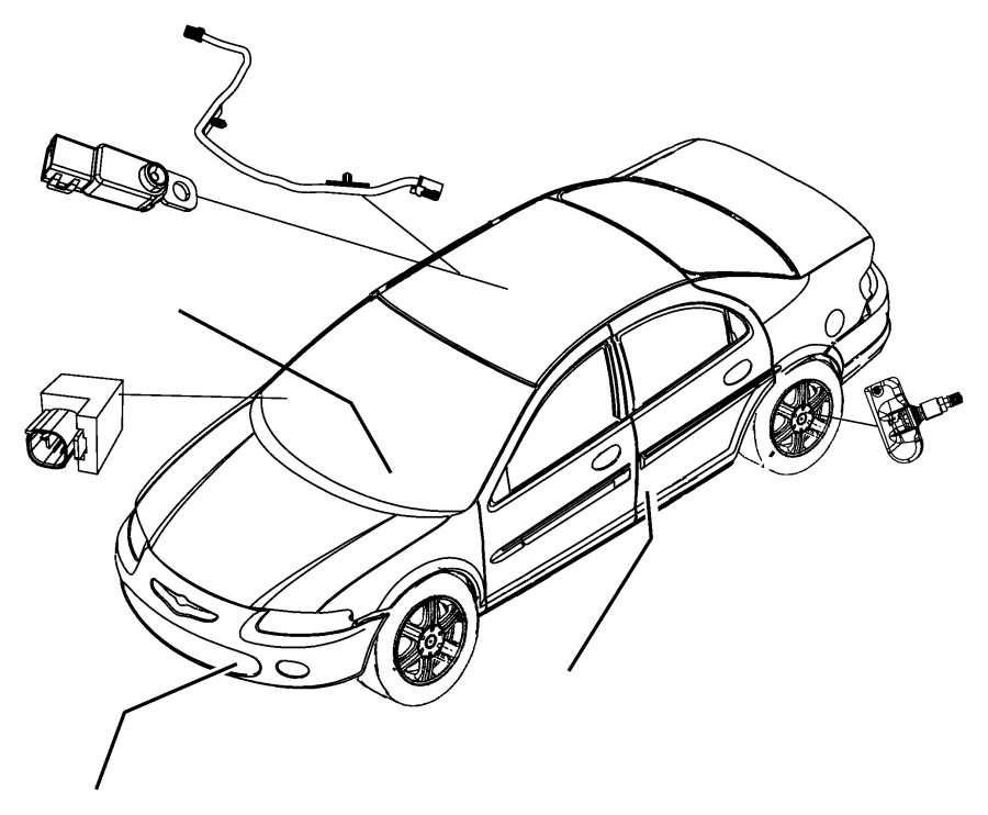 2008 Chrysler Sebring Molding, wiring. Jumper, windshield
