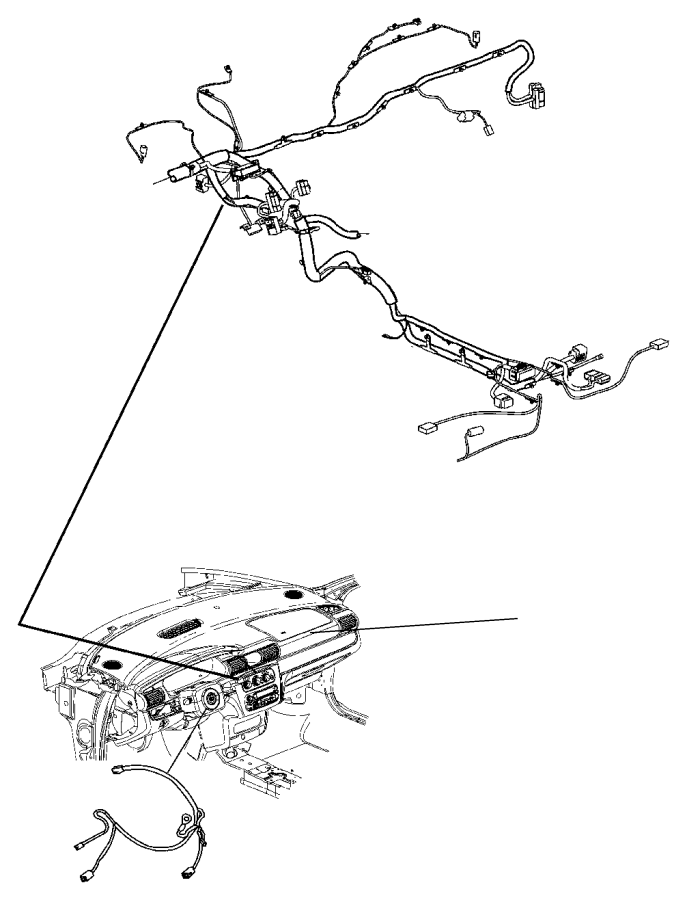 Chrysler Sebring Wiring. Instrument panel. [air