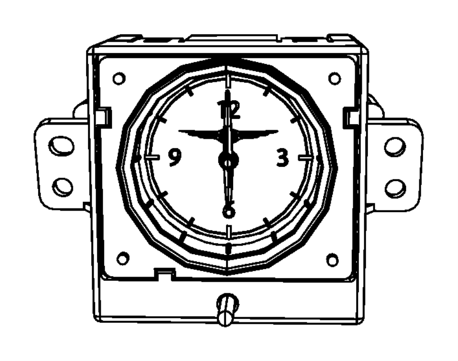 Chrysler Sebring Clock. [analog clock]. Trim: [all trim