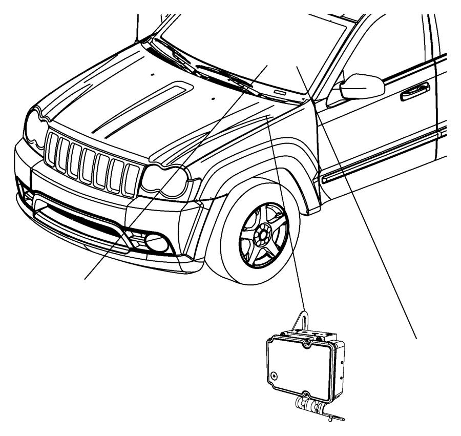 2012 Jeep Grand Cherokee LAREDO 3.6L V6 4X2 Control unit