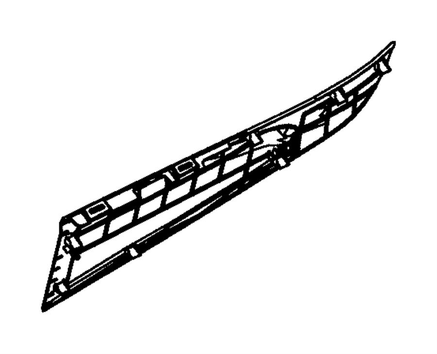 Dodge Durango Panel. Floor console. Right. [black], [x9