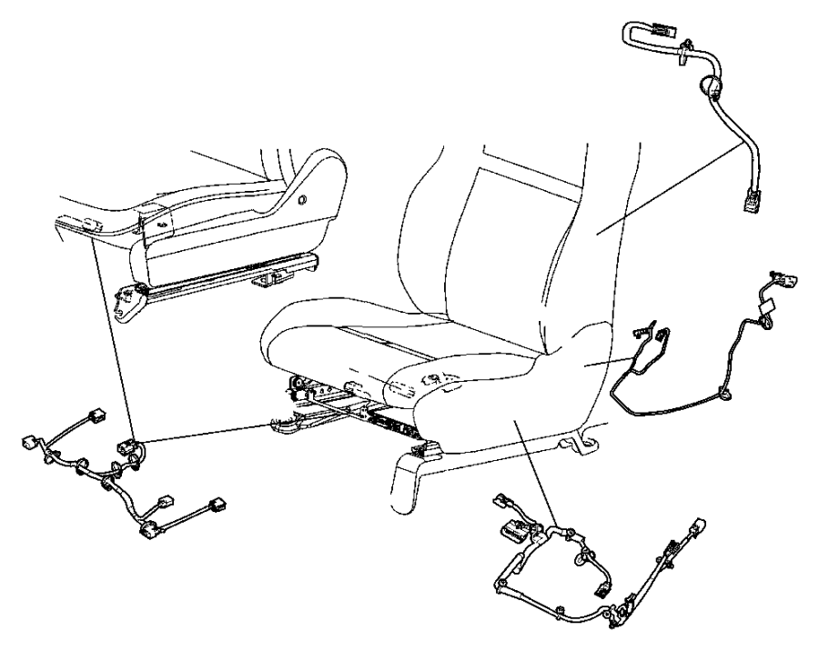 Jeep Grand Cherokee Wiring. Power seat. Trim: [leather
