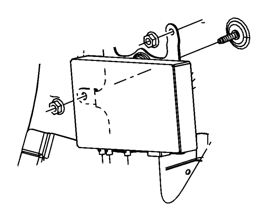 Jeep Grand Cherokee Bracket. Radio, satellite video