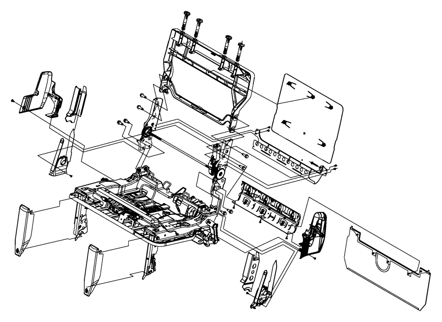Chrysler Town & Country Panel. Seat back. [power folding