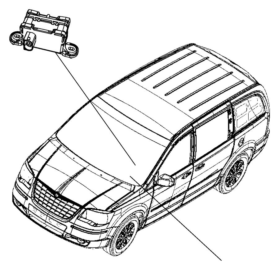 2010 Chrysler Town & Country Module, sensor. Dynamics