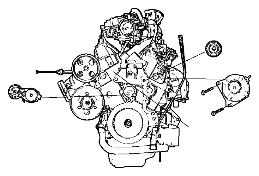 2010 Dodge Generator. Engine. Alternatorcomplete