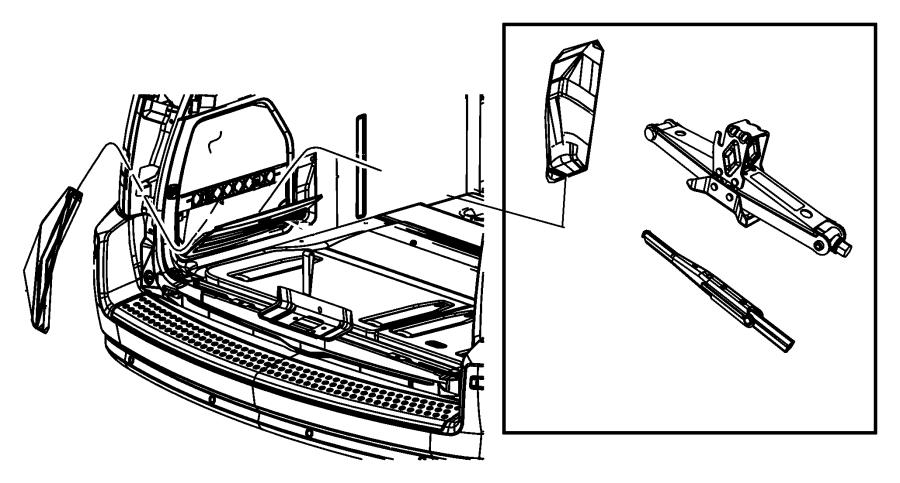 Search Chrysler Wheels > jack stowage Parts
