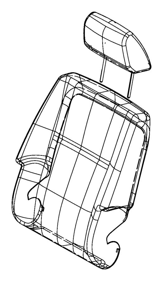 Chrysler Town & Country Sleeve. Headrest. Locking. Export