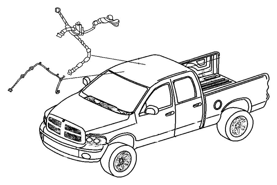Dodge Ram 3500 Wiring. Header. [rear view auto dim mirror