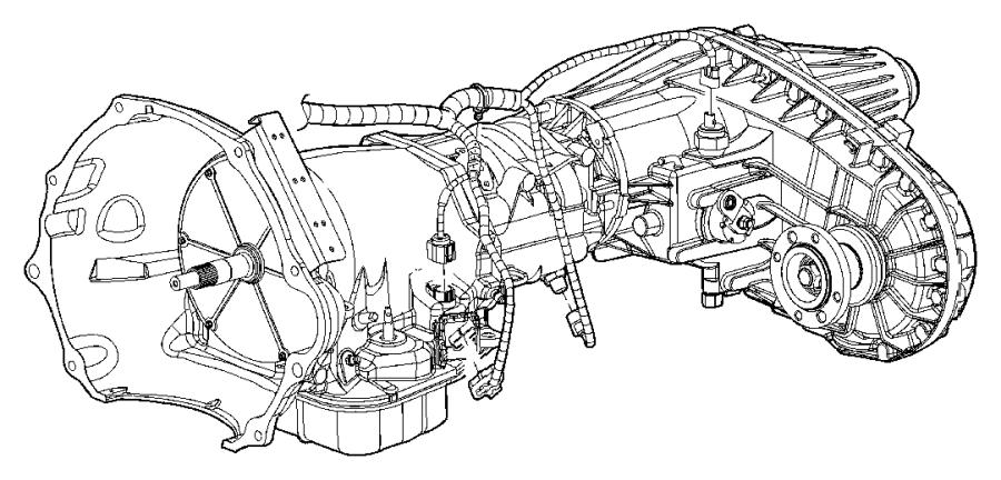 RAM 1500 Wiring. Transmission. [50 state emissions], [elec