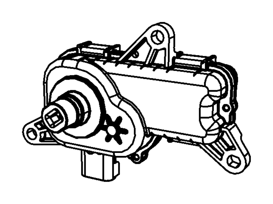 Dodge Ram 1500 Actuator. Intake short running valve, short