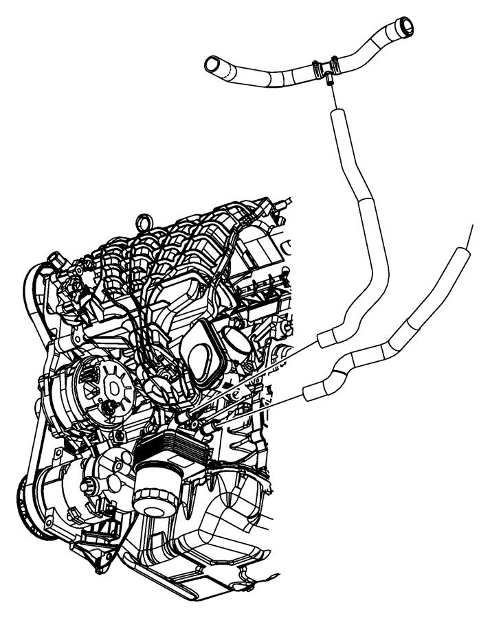 Dodge Journey Hose. Radiator inlet. [engine oil cooler