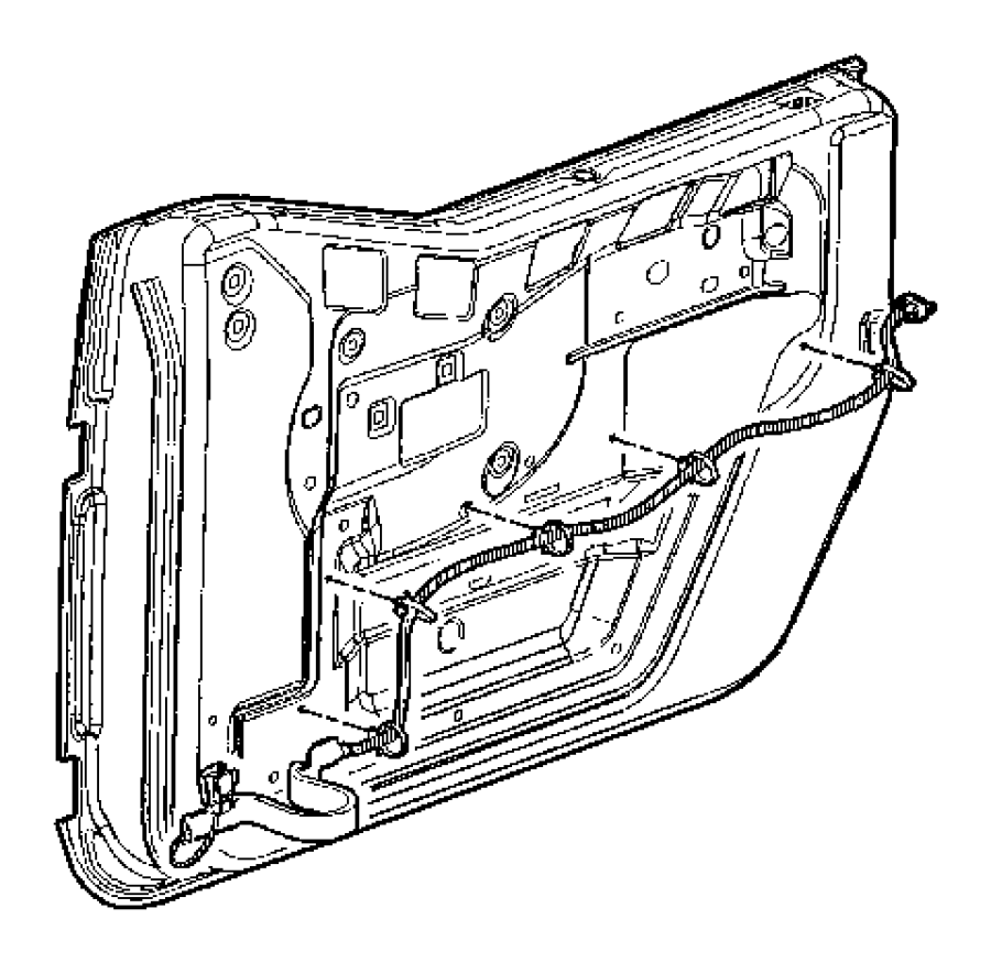 Jeep Wrangler Wiring. Front door. Export, right