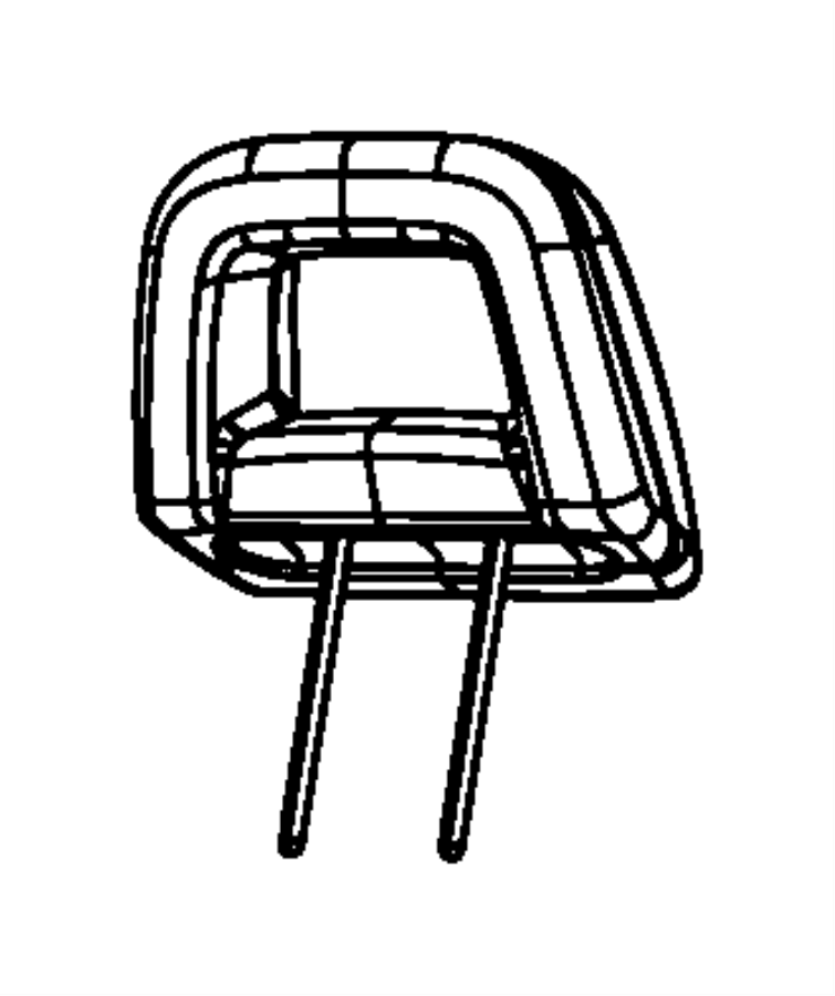 Dodge Caliber Sleeve. Headrest. Locking. Trim: [leather