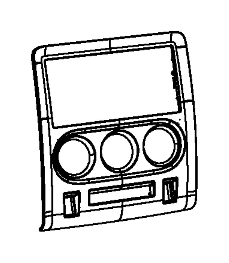 Dodge Challenger Bezel. Instrument panel. Center. [instr