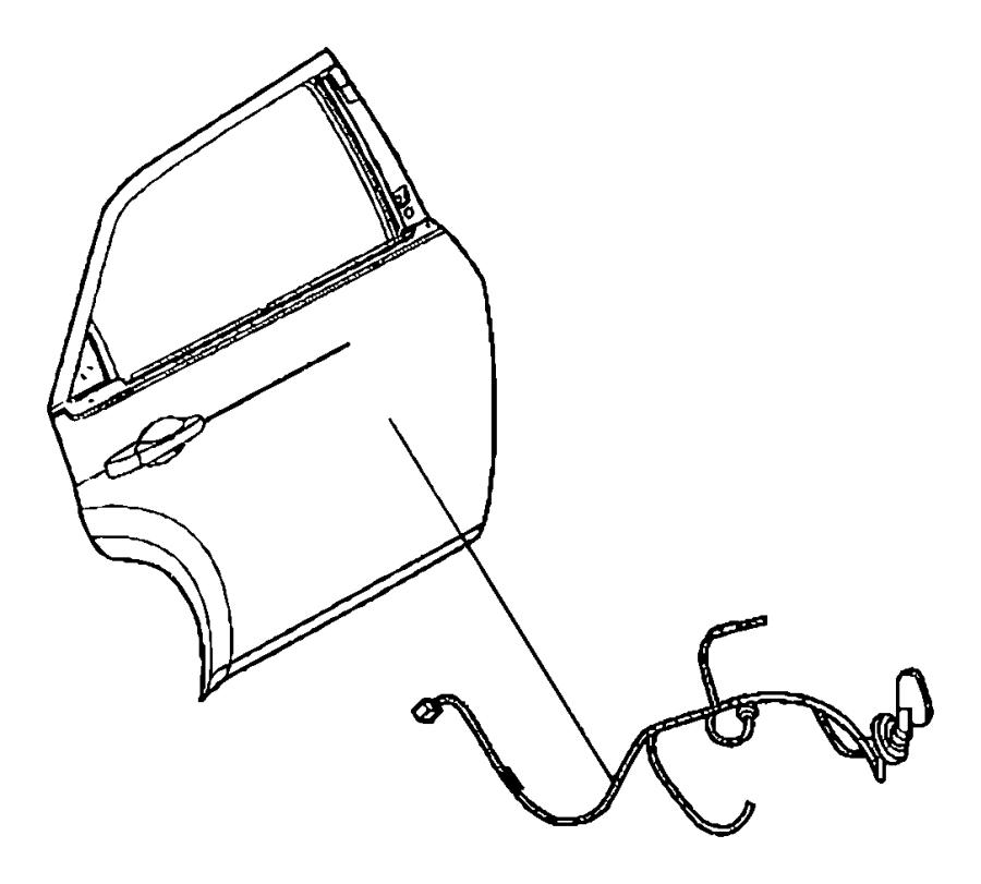 Dodge Charger Wiring. Rear door. Left, right. [6 speakers
