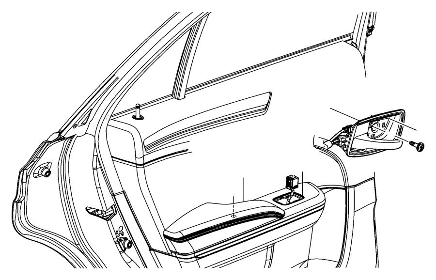 Chrysler 300 Handle. Inside release, inside remote control