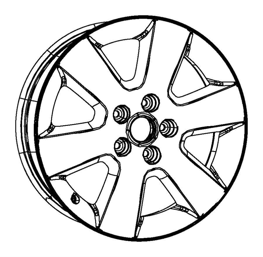 2008 Chrysler Wheel. Aluminum. Color: [no description