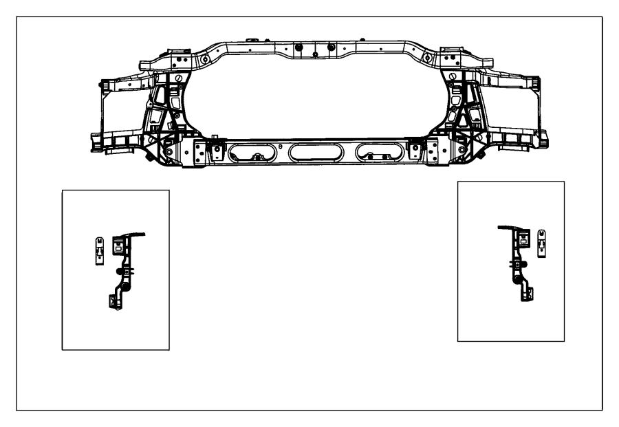 Dodge Ram 2500 Radiator Support.