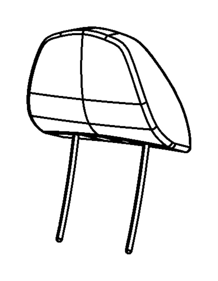 Chrysler Sebring Headrest. Front. Trim: [cloth low-back