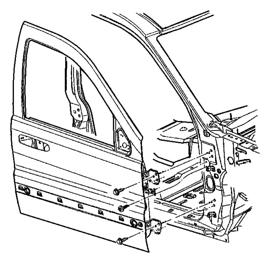 Dodge Durango Panel. Front door outer repair. Left