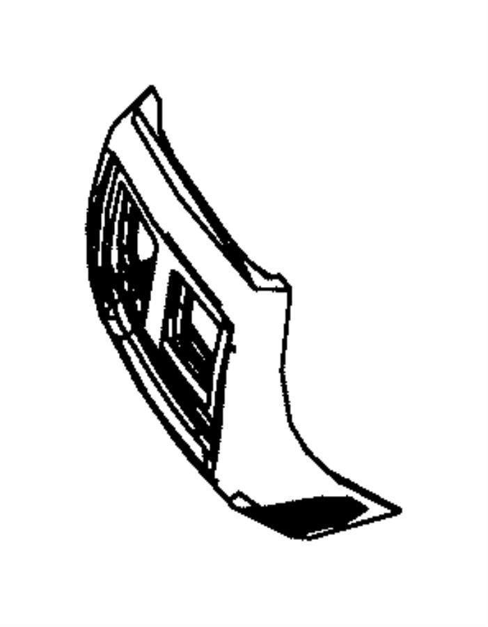 Dodge Durango End Cap Console Trim No Description