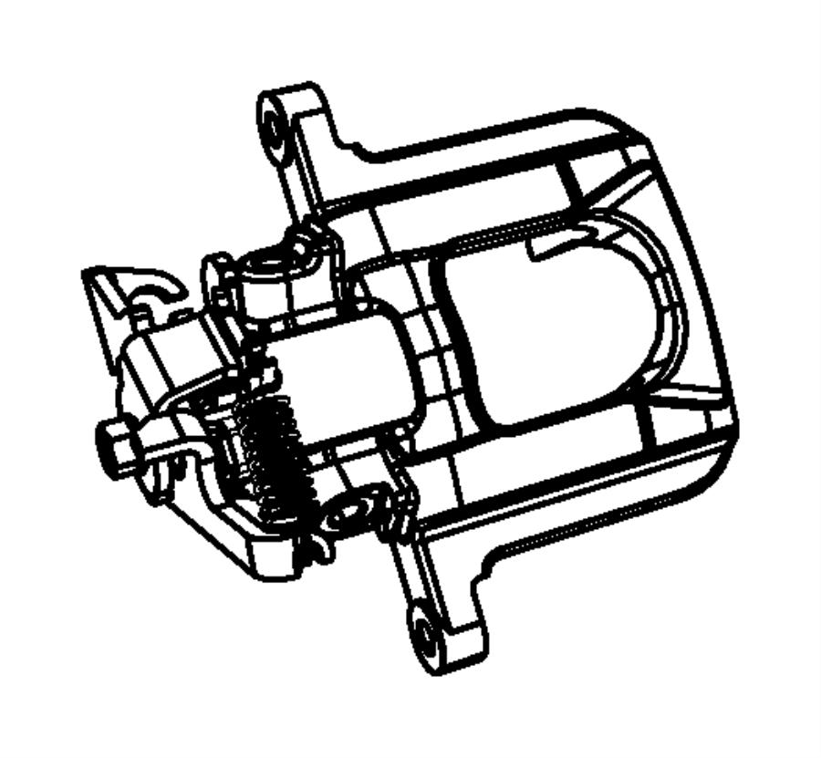 2009 Dodge Journey SXT 3.5L V6 A/T AWD Caliper, caliper