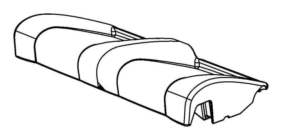 Chrysler Sebring Cover. Rear seat cushion. Trim: [premium