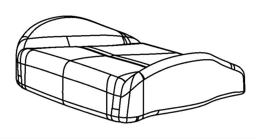 Chrysler Sebring Foam. Seat cushion. Right. Trim: [premium