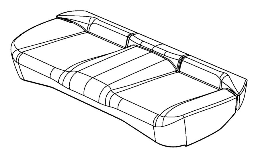 Dodge Avenger Cover. Seat cushion. Trim: [premium cloth