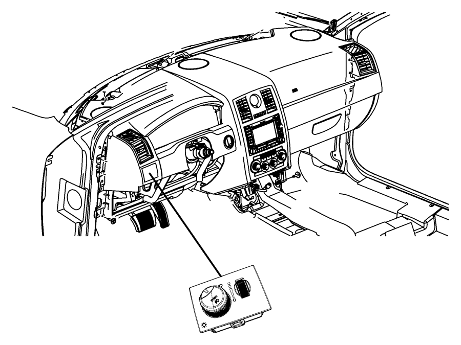 2013 Dodge Challenger Switch. Headlamp. Headlampsfog