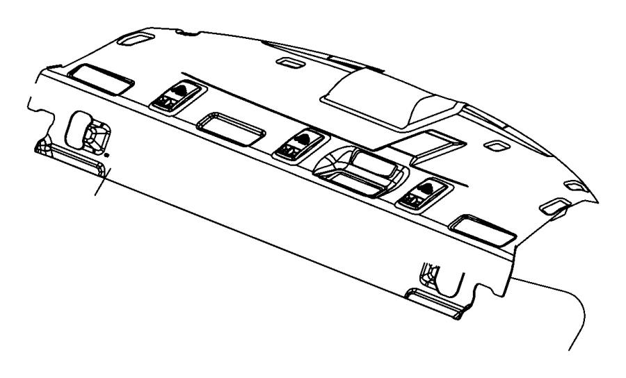 Dodge Charger Panel. Rear shelf. [19 spkrs srt high perf