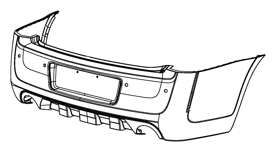 2013 Chrysler 300 Fascia. Rear. Bclr, systembody