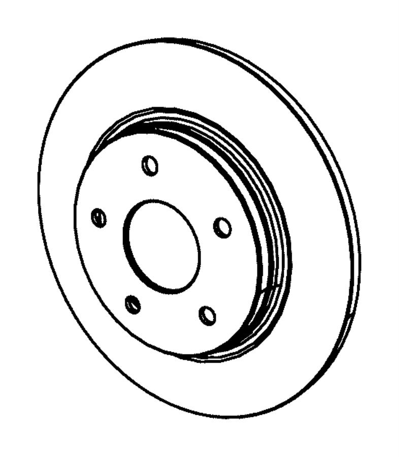 Dodge Grand Caravan Rotor. Brake. Rear. Magneti marelli