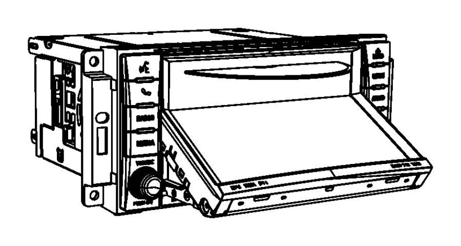 Chrysler Sebring Radio. Am/fm/cd/dvd/hdd/satellite, multi