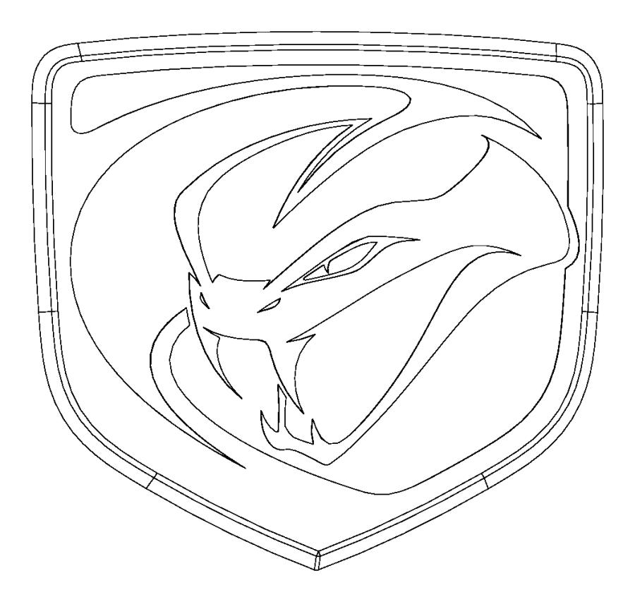 Dodge Viper Medallion. Viper head. Color: [no description