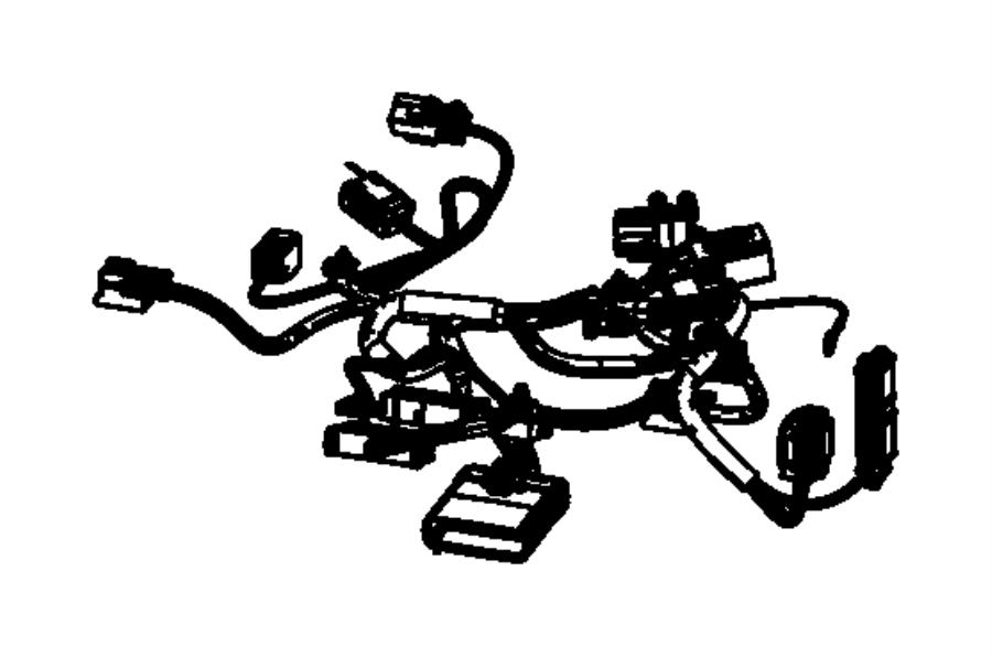 Dodge Durango Wiring. Power seat, side air bag. Trim