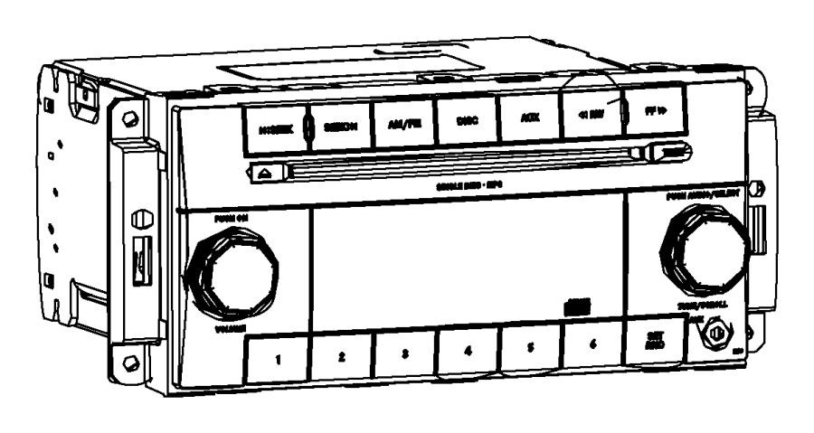 Jeep Patriot Radio. Multi media, used for: am/fm/cd/mp3