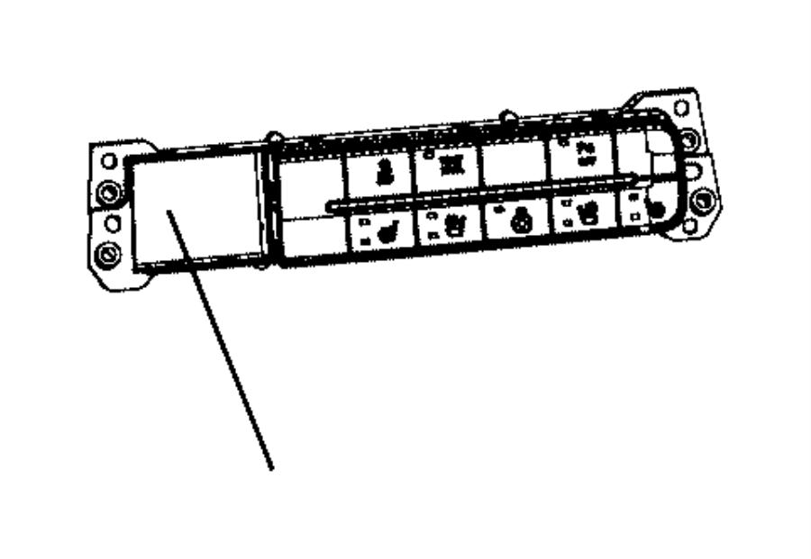 Dodge Ram 1500 Switch. Instrument panel, trailer brake
