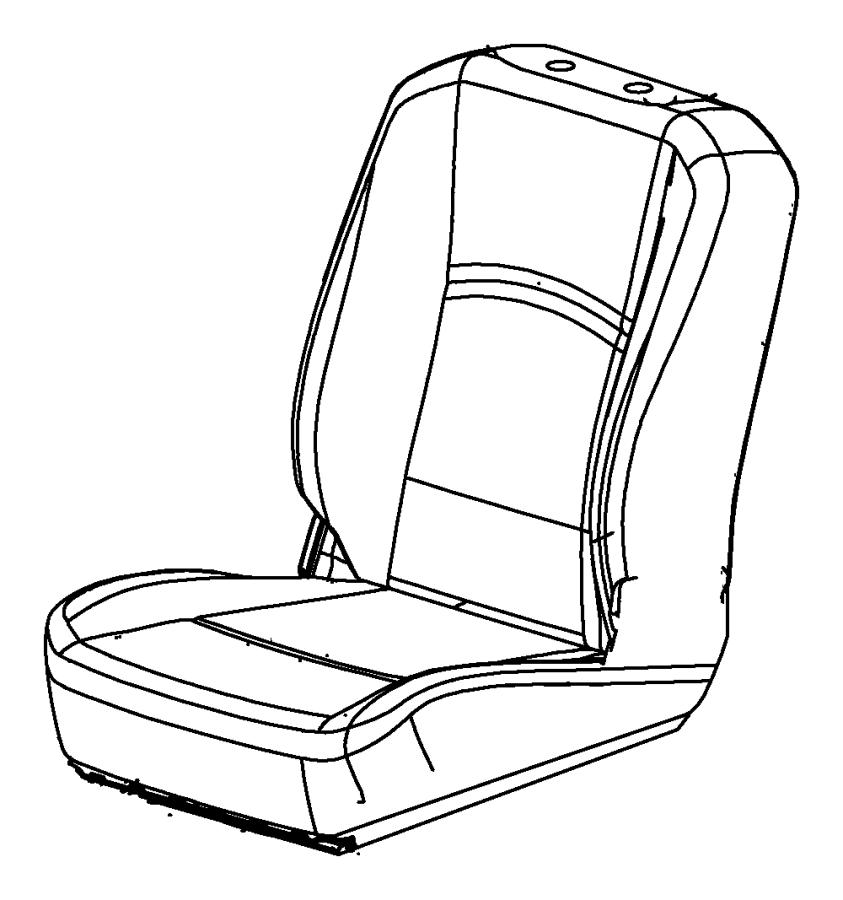 RAM 5500 Cover. Front seat back. Left. [black/diesel gray
