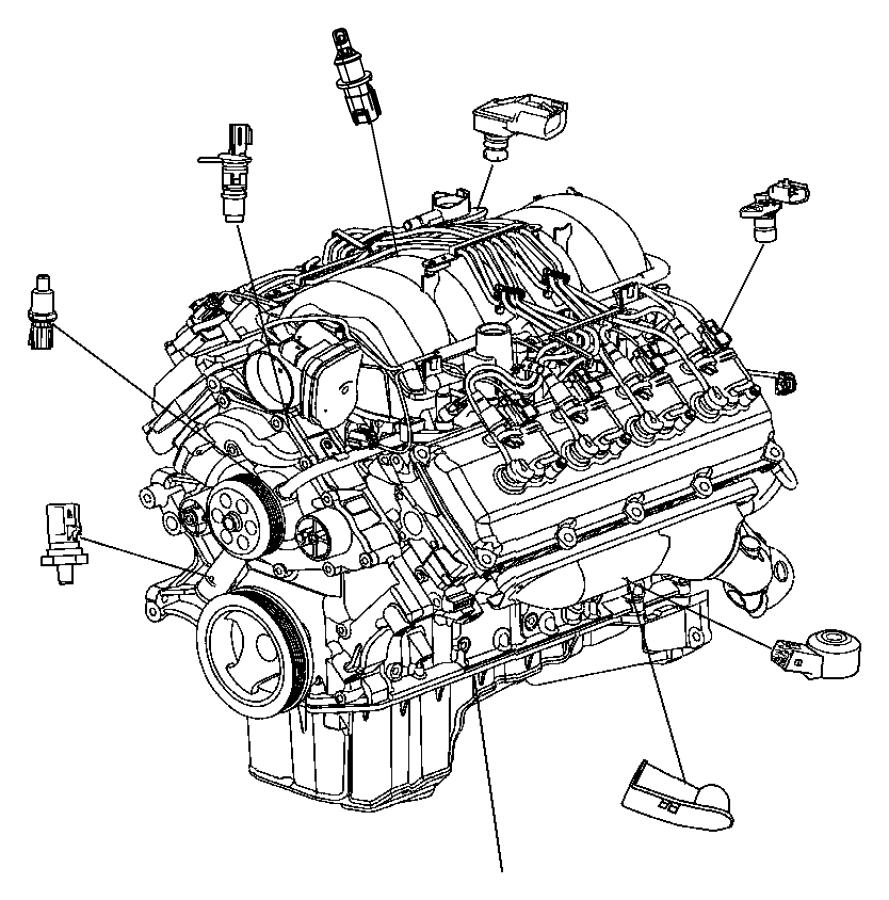 2014 Chrysler 300 SRT8 SRT8 6.4L Hemi SRT V8 Sensor