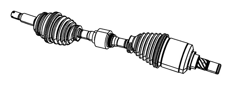 Jeep Compass Shaft. Axle half. Left. [6-speed manual aisin