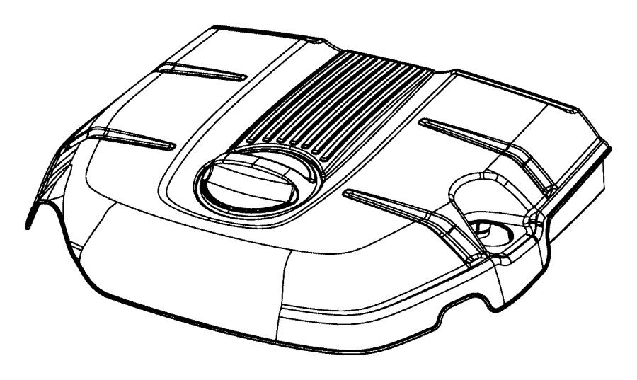 2015 Chrysler 200 Cap. Engine cover. Engine oil filter