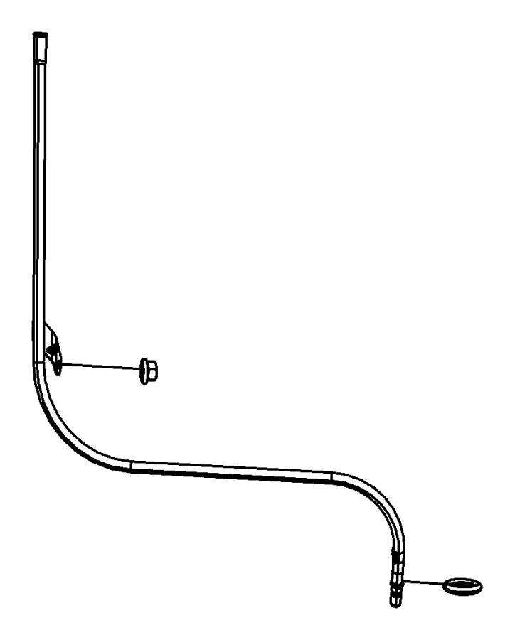 2009 Dodge Tube. Engine oil indicator. Crew cab